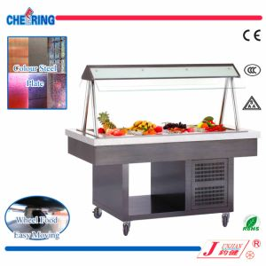 Made in China Commercial Colour Steel Salad Bar Display Refrigerator pictures & photos