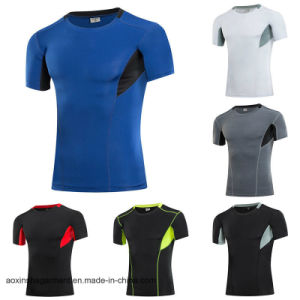 Wholesale Dry Fit T Shirt, Men′s Running Sports T-Shirt (A002)