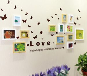 DIY 13-Frames Wooden Photo Frame Modern Creative Combination Home Decor pictures & photos