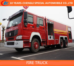 HOWO 6X4 10 Cbm Foam Fire Truck / HOWO 3axles Fire Truck pictures & photos