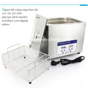 Ultrasonic Cleaner 10L for Lab Use with Timer and Heater (JP-040) pictures & photos
