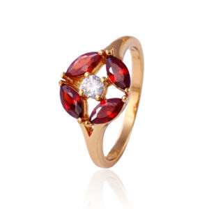 11722 Hot Selling Good Qualitty 18k Gold-Plated Crystal Fashion Jewelry Ring for Women′s Best Gifts pictures & photos