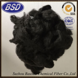 Heat-Resistant Highly Elastic Black Polyester Staple Fiber pictures & photos