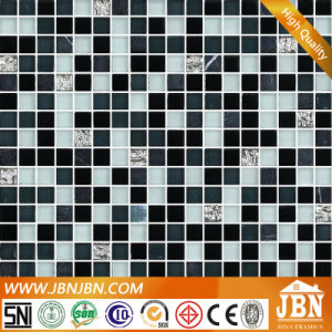 Fitting Room Floor Anti Slip Marble Stone and Glass Mosaic (M815041) pictures & photos