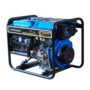 7kVA Single Phase Open Type Portable Disel Generator (ZDE8600E) pictures & photos