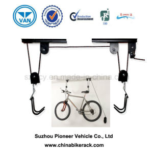 Black Coated Ceiling Mounted Bike Lift pictures & photos