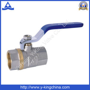 1/2-4 Nickel Plated Plumbing Brass Ball Control Valve for Valve (YD-1023) pictures & photos