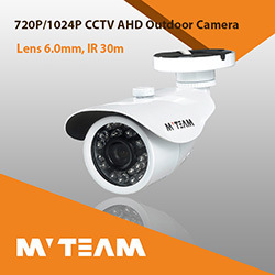China CCTV Camera with 6mm (M12) Lens 36PCS IR LEDs 30m IR Distance Ahd Camera 720p 1.0MP Bracket with Cable Built-in pictures & photos