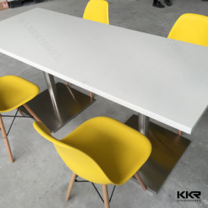 Polished Resin Restaurant Square Dining Tables (170622) pictures & photos