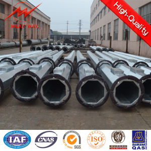 BV 15m 12kn Outdoor Steel Utility Poles for Africa pictures & photos