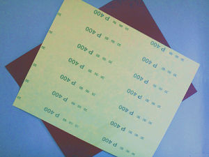 Aluminum Oxide C-Wt Yellow Latex Paper for Auto Industry FM38 400# pictures & photos
