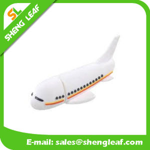 Promotional Gifts 3D Rubber Customized PVC USB Flash Drives (SLF-RU025) pictures & photos