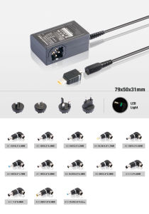 Relacement U/Au/Us/UK Plug 65W Universal Laptop Power Adapter pictures & photos