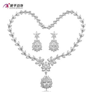 Luxury Rhodium CZ Diamond Wedding Jewelry Set for Women Set -20 pictures & photos