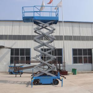 10m Aerial Scissor Work Platform Hydraulic Mobile Man Lift pictures & photos