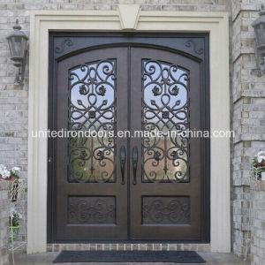 Decorative Wrought Iron Double Door (UID-D020) pictures & photos