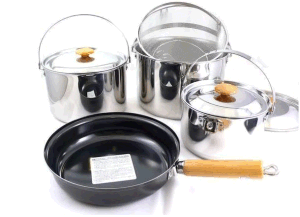 Good Quality with Glass Lid Stainless Steel Pot