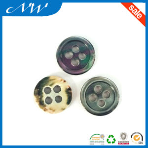 Wholesales Smoke Color Effect Trocas Shell Button pictures & photos
