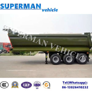 25-28cbm Tri Axle Sand/ Coal Transport Dump Tipping Tipper Trailer pictures & photos