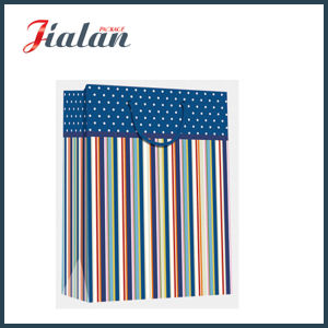 Glossy Laminated Art Paper Stripes Daily Shopping Gift Paper Handbags pictures & photos