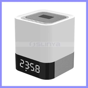 All-in-1 Portable Wireless Bluetooth 4.0 Speakers with Touch LED Lamp Speaker (Dimmable 3 Brightness) TF Card MP3 Player Built in Alarm Clock. pictures & photos