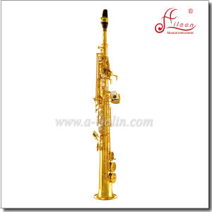 Bb Key Yellow Brass Chinese Pads Jinbao Soprano Saxophone pictures & photos