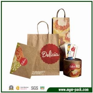 Factory Price Customized Brown Paper Gift Packing Handbag pictures & photos