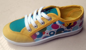 New Style Kids Printing Canvas Shoes Injection Shoes (HH1613-1) pictures & photos