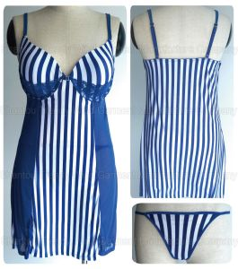 T-Back/Baby Doll/Sexy Push up Striped Lingerie pictures & photos
