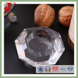 15cm Oct Tea Light Glass Candlestick (JD-CH-020) pictures & photos