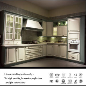 Best Selling Solid Wood Kitchen Cabinet (ZH-8415) pictures & photos