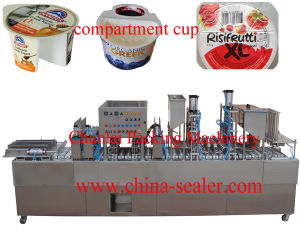 Cup Filling Sealing Machine with Pre-Cut Foil pictures & photos
