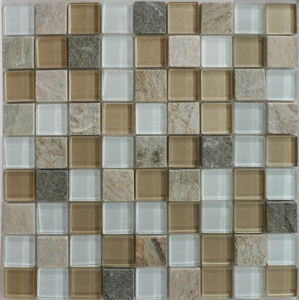 30*30mm Brown White Stone Mosaic for Wall pictures & photos