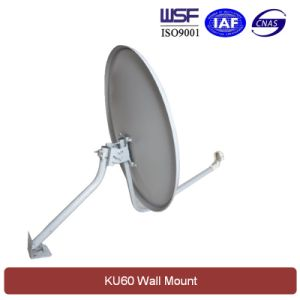 Ku 60cm Satellite Dish Antenna (Wall Mount) pictures & photos