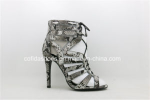 Sexy Comfort High Heels Snake Leather Sandal pictures & photos