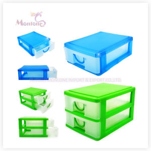 2 Layer Plastic Box Plastic Drawer Storage Box 15.5*12.5*14.7cm pictures & photos