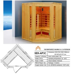 2017 Hotwind Hemlock Far Infrared Sauna for 3-4 Person-Ap3c pictures & photos