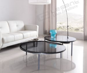2015 Grey Glass Round Table in Home pictures & photos