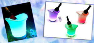 LED Ice/Wine Bucket, Made of Plastic Material, with LED Lights pictures & photos