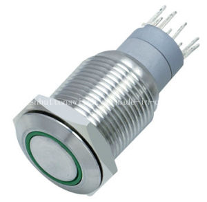 16-C1 Green Ring 12V LED Push Switch pictures & photos