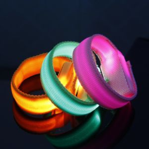 Sport Glowing Wristband Light up Wristband pictures & photos