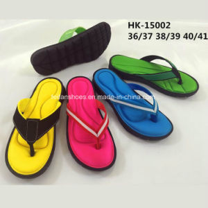 New Style Fashion Comfortable Women EVA Flip Flops Slipper (HK-15002) pictures & photos