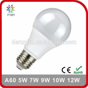 A60 Standard E27 B22 Plastic Aluminum SMD2835 Ra>80 PF>0.5 5W 7W 8W 9W 10W 12W LED Bulb Light with Ce RoHS pictures & photos