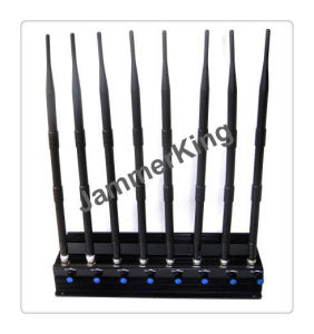 2016 New Latest 8 Antennas WiFi 5GHz 2.4GHz GSM 2g 3G 4G GPS RC433 868MHz 18W 8 Bands Jammer up to 50m pictures & photos