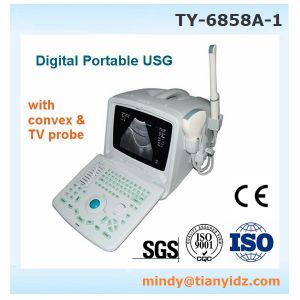 Wuhan Tianyi Portable Ultrasound Scanner (TY-6858A-1) with Obstetric/ Gynecological Transvaginal Probe pictures & photos