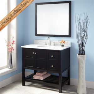 Black Finished Modern Design Single Sink Bathroom Vanity pictures & photos