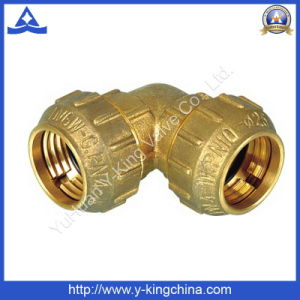 Brass Female Coupling Nipple Fitting (YD-6046) pictures & photos