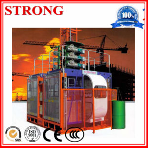 Construction Building Hoist Passenger and Material Lifting Hoist with pictures & photos