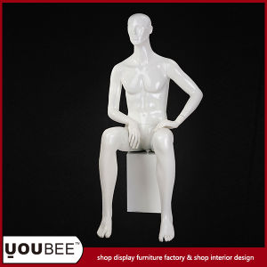 Attractive Sitting Male Mannequin with Square Pillar for Window Display pictures & photos