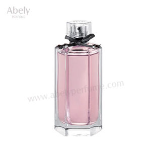 50ml OEM Polygon Polishing Fancy Glass Perfume Bottle with Unique Cap pictures & photos